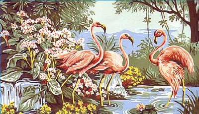 Flamants roses canevas - Margot