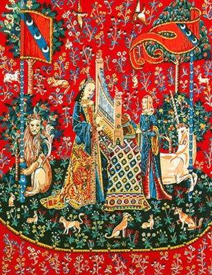 Canevas et tapisserie dame la licorne univers broderie - La tapisserie de la dame a la licorne ...