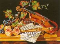 Nature Morte Au Violon canevas