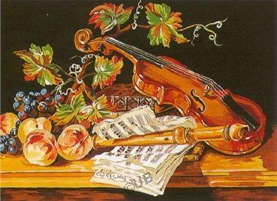 Nature Morte Au Violon canevas - Margot