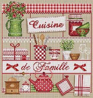 <div class=alt><div class=desc><h2>Modèle de broderie à points comptés cuisine de famille -  madame la fée</h2></a><br>Grille de broderie sur le thème de la cuisine cuisine de famille dans les tons vert, rouge brun et blanc. les dimensions sont de 181 x188 points soit 30 x 31,3 cm sur une toile de lin. toile et fils sont proposés en sus.<br><br></div></div>