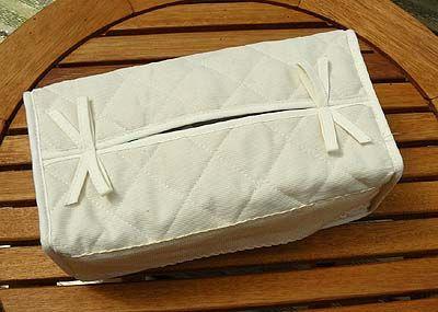 accessoire broder cache boite mouchoirs cru. Black Bedroom Furniture Sets. Home Design Ideas