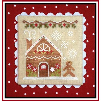 Gingerbread Village 4 - Gingerbread House 2 (grille + bouton) - CCN
