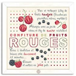 Confiture Fruits rouges - Fiche point de croix G019 - Lilipoints