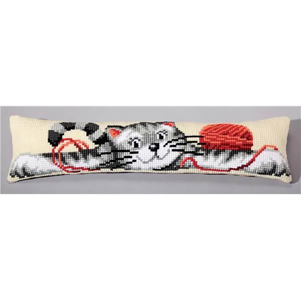 kit coussin bas de porte au point de croix de vervaco 1235. Black Bedroom Furniture Sets. Home Design Ideas