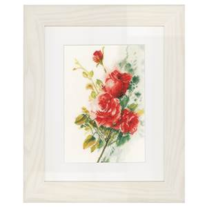 Bouquet de roses rouges (kit lin) - Lanarte