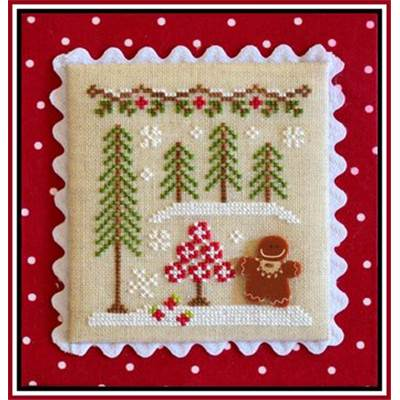 Gingerbread Village 2 - Gingerbread Girl and Peppermint Tree (grille + bouton) - CCN