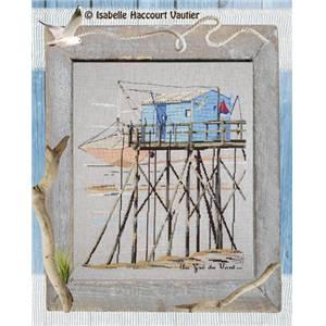 modèle de broderie point de croix au gré du vent - isabelle haccourt vautier