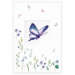Purple Butterfly - Carte à broder - Luca-S