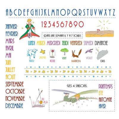 Semainier Le Petit Prince (kit broderie traditionnelle) - Princesse