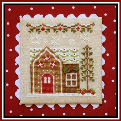 Gingerbread Village  - Gingerbread House 6 (grille + bouton) - CCN