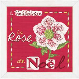La Rose de Noël - Fiche point de croix J006 - Lilipoints