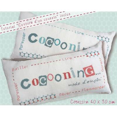 "Coussin rectangle ""Cocooning"" (fiche) Q003 - Lilipoints"