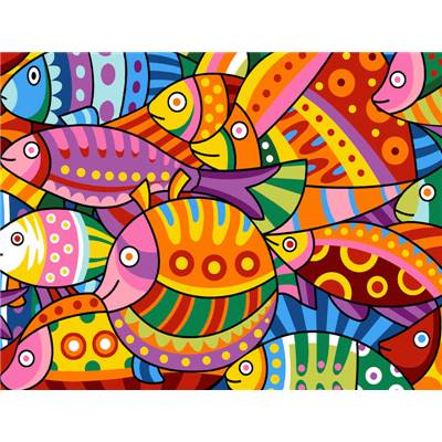 Color Fish - canevas pénélope - Margot de Paris