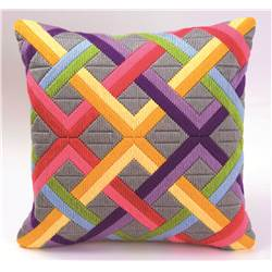 Bargello multicolore 1 - Coussin point lancé - Vervaco