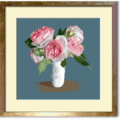 Bouquet de roses Pierre de Ronsard (diagramme NB) - Orbis Pictura