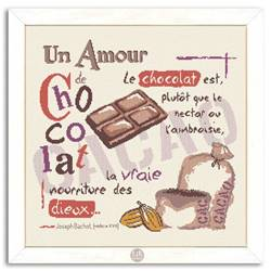 Un Amour de Chocolat - Fiche point de croix G005 - Lilipoints