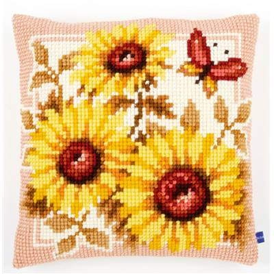 Tournesols - kit Coussin gros trous - Vervaco