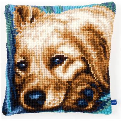 Chien - kit Coussin gros trous - Vervaco