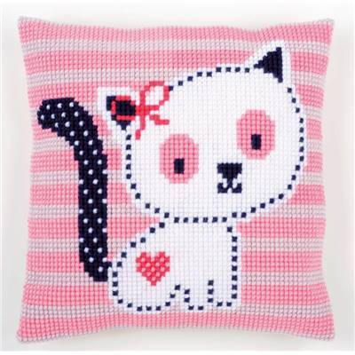Petit Chat - kit Coussin gros trous - Vervaco