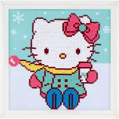 Hello Kitty dans la Neige   - Kit Broderie Diamant - Vervaco