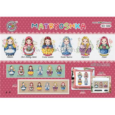 Matryoshka - Fiche point de croix - Soda Stitch