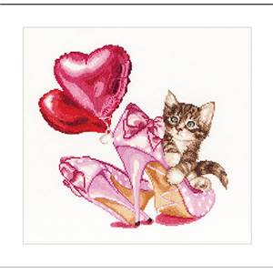 Chaton Saint Valentin Kit point de croix - Thea Gouverneur