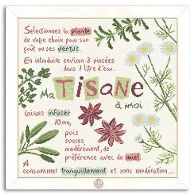 Ma tisane - Fiche point de croix G020 - Lilipoints