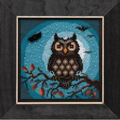Midnight Owl - Kit Mill Hill avec perles