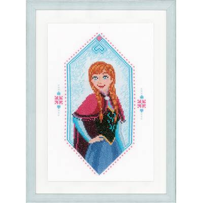Frozen Anna - Kit point de croix Disney - Vervaco