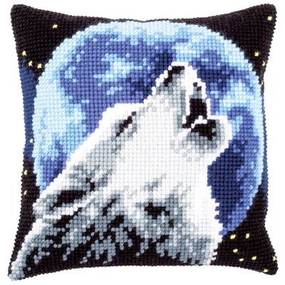 Loup - kit Coussin gros trous - Vervaco