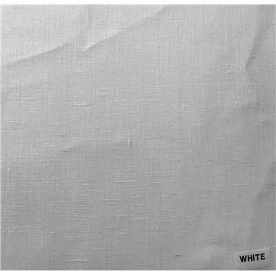Toile Graziano lin 15 fils Blanc largeur 180 cm