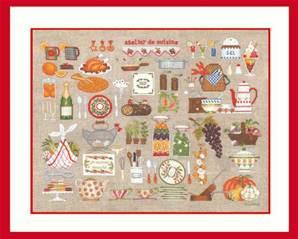 <div class=alt><div class=desc><h2>Kit de broderie point de croix et petit point atelier cuisine</h2></a><br>Kit de broderie atelier cuisine - le bonheur des dames de dimension 50 x 37 cm<br><br></div></div>