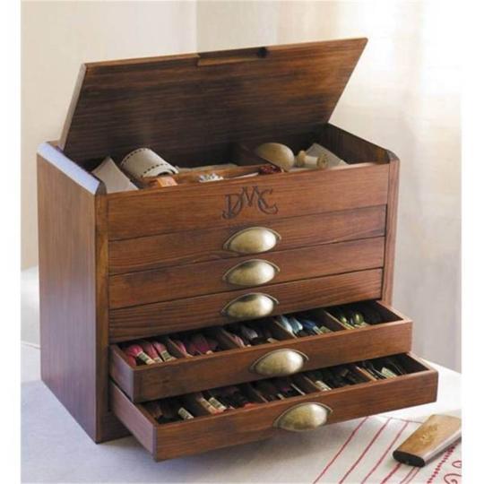 mobilier en bois, coffret de rangement, commode de broderie,casier