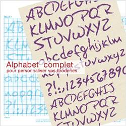 Alphabet broderie point de croix - Fiche Lilipoints