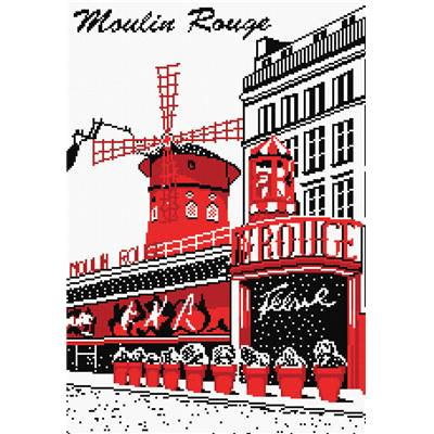 Moulin Rouge - Kit point de croix - Marie Coeur