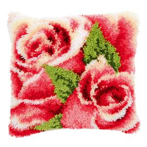 Coussin point noué roses roses 1 - Vervaco