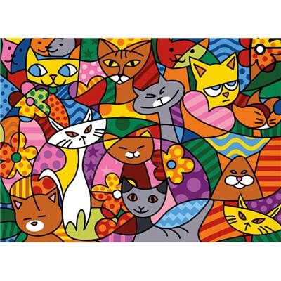 Color Cats - canevas pénélope - SEG de Paris