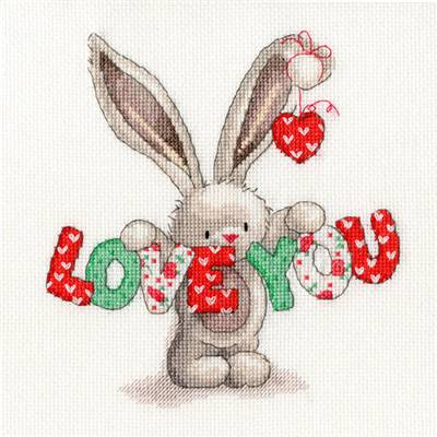 Bebunni Love you - Kit point de croix - Bothy Threads