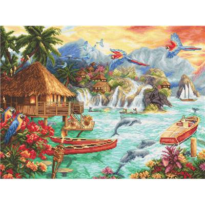 Island Life - Kit point de croix - LETISTITCH