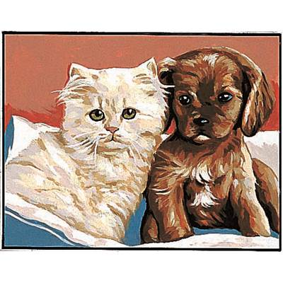 Chat et Chien Kit canevas - Margot