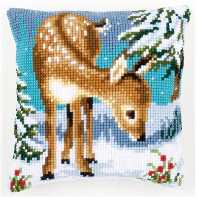 Cerf - kit Coussin gros trous - Vervaco