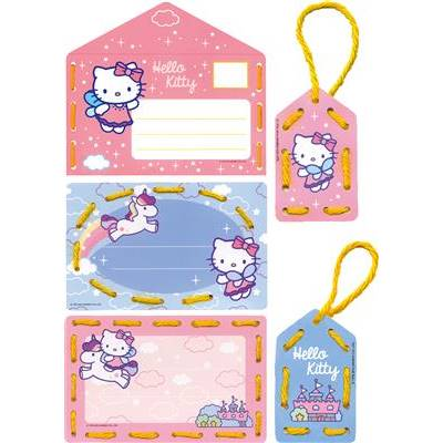 Hello Kitty - Cartes invitations à broder Age 3+ - Vervaco