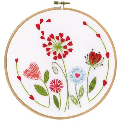 Fleurs , Kit broderie traditionnelle , Vervaco