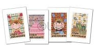 "Lot de 4 cartes ""Anniversaire"""