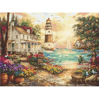 Cottage by the sea - Kit point de croix - LETISTITCH