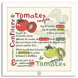 La Confiture de Tomates - Fiche point de croix G003 - Lilipoints