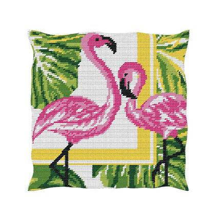 Flamant Rose - Kit Coussin gros trous  - Luc Créations