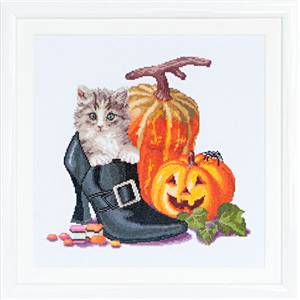 Chaton d'Halloween Kit point de croix - Thea Gouverneur