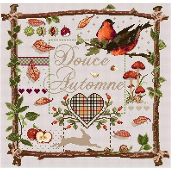 Madame la f e douce automne fiche point de croix chez univers broderie - Image automne gratuite imprimer ...